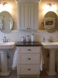 bathrooms design small powder room wallpaper console sink