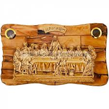 holy land gifts the last supper olive wood plaque holy land elements holy