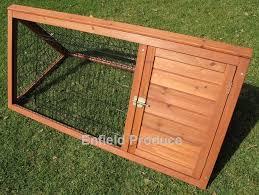 premium triangle rabbit hutch 1 2 metres ep 129