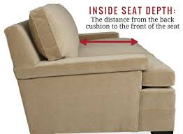 sofa seat depth measurement sofa secrets how to choose the right seat depth and cushions