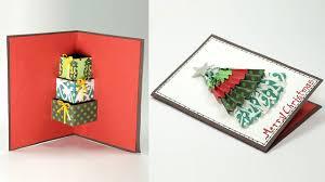 diy 3d christmas card handmade christmas pop up card youtube