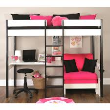 kids loft bed with desk top 66 prime double bunk bed with desk twin size loft queen kids