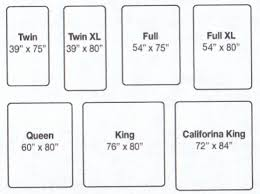Cal King Beds Mattress Sizes Chart Mattress Bed Dimensions And California