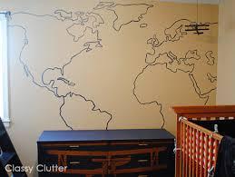 map mural diy map wall mural clutter