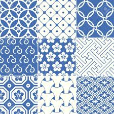 Japan Design by Vintage Japanese Traditional Pattern Royalty Free Cliparts