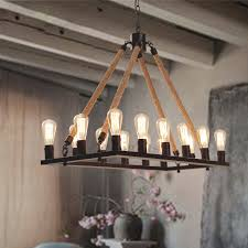 industrial style lighting antique 14 light rope rectangular industrial style lighting