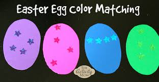 the activity mom easter egg color matching