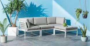 canape d angle exterieur catania module d angle pour canapé d extérieur blanc made com