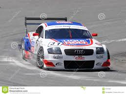 audi race car race car audi tt r dtm editorial stock image image of competition