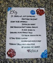 sisters by heart sorority big little poem canvas