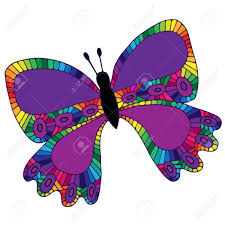 abstract pattern butterfly lilac isolated butterfly with abstract pattern on the wing for