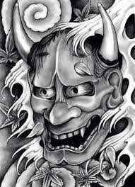 hannya mask tattoo black and grey pin by hưng on mặt quyr pinterest tattoo oriental tattoos and