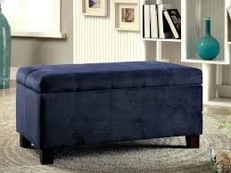 Safavieh Amelia Tufted Storage Ottoman Ottomans Blue Tufted Ottoman Velvet Navy Pouf Storage Cube