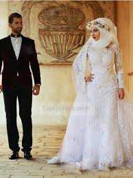 wedding dress muslim save on white muslim wedding dresses sleeve appliques