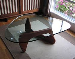 isamu noguchi style coffee table noguchi etsy