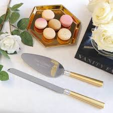 wedding cake knives and servers personalised vera wang with gold wedding cake knife and server set 2 pc