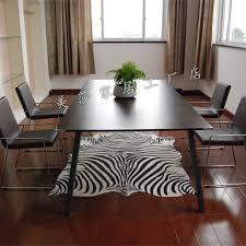 Leopard Print Rug Living Room Hide Rugs Animal Print Area Rug Zebra Design Faux Fur Rugs For