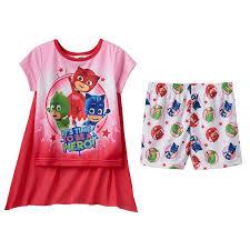 toddler pj masks catboy gekko u0026 owlette 3 pc cape pajama