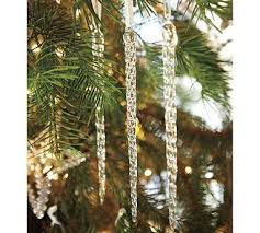 icicle ornament pottery barn