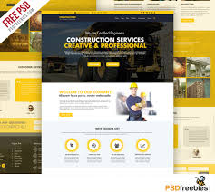construction company website template free psd download download