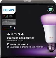 philips hue white and color ambiance a19 starter kit white 464479