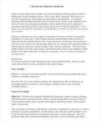resume objective statements effective resume objective statements