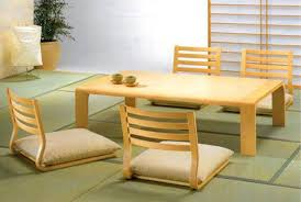 japanese style floor dining table comfortable plush back and seat