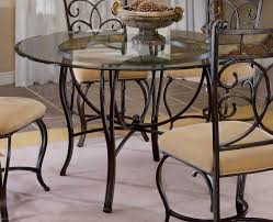 wrought iron dining room furniture dining table fabulous dining room design ideas using round glass