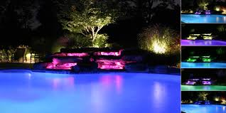 outdoor pool lights garden design