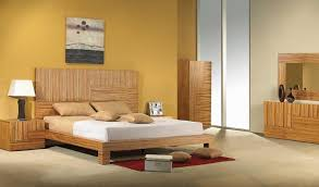 bedroom charming wooden bedroom furniture with yellow wall paint
