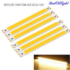 cob led light bar diy 10w cob led light bar warm white 3000k 900lm dc12 14v 6pcs