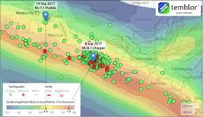 Chiapas Mexico Map Mexican Earthquakes Chain Reaction Or Coincidence Temblor Net