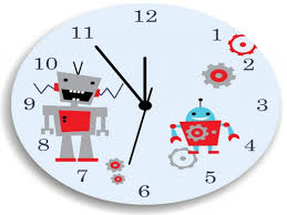 bedroom bedroom clock awesome robot wall clock for boys bedroom