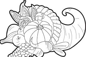 fruits basket for happy thanksgiving coloring pages for pm