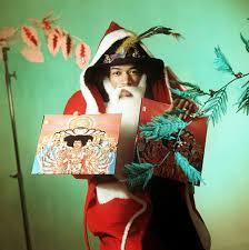 Jimi Hendrix Halloween Costume Vintage Advert Featuring Jimi Hendrix Dressed Santa Claus