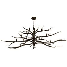 branch chandelier custom forged iron branch chandelier by michael piero for