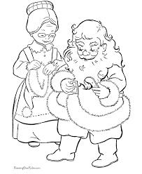 claus helps santa christmas coloring