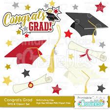 congrats grad graduation svg cut files clipart set