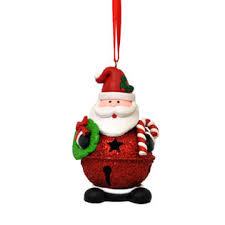 flagandbanner santa jingle bell ornament