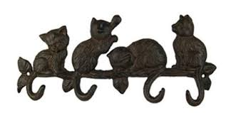 accroche torchons cuisine patère accroche torchons 4 chats