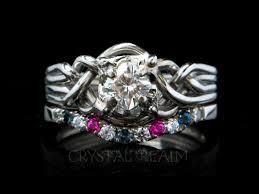 avalon wedding band celtic engagement ring avalon blue diamond puzzle ring in