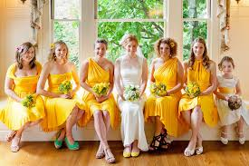 yellow dresses for weddings bridesmaids dresses bridal party style inspiration from etsy