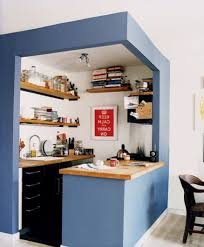 Space Saving Ideas For Kitchens Alder Wood Classic Blue Amesbury Door Space Saving Kitchen Ideas