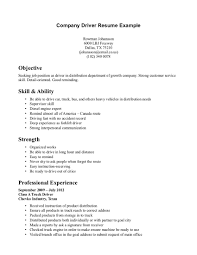 Best Resume Gallery by Driver Objective Resume Resume For Your Job Application
