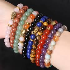 beaded elastic bracelet images 8mm buddha bracelets bangles trendy natural stone for women jpg