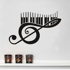 music note wall sticker large promotion shop for promotional music large size piano music note wall decals vinyl removable art murals creative wall stickers home decor living room wholesale