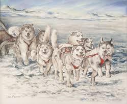 sled dogs by chloe molin