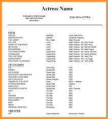 acting resume template no experience sample bio samples u2013 inssite