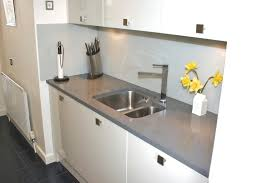 What Is Corian Worktop Small White Gloss Kitchen With Grey Quartz Worktop In Plomo Quartz