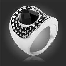 aliexpress buy mens rings black precious stones real vintage precious black cowboy hat shape spots mens ring size